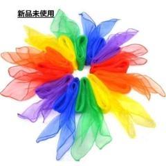 """Thumbnail of """"まとめ売り カラー シフォン スカーフ 10色 10枚×2 浮遊 ダンス お遊戯"""""""