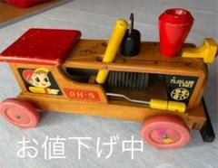 "Thumbnail of ""木製 ニチガン トイズ 乗用 機関車 PLAYLAND レトロ"""