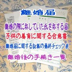 "Thumbnail of ""a-782 【普】 離婚届 各種届 詳細記入例 (お子様居る方用)"""