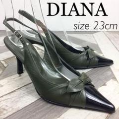 """Thumbnail of """"DIANA ダイアナ ミュール ブラック グリーン 23"""""""