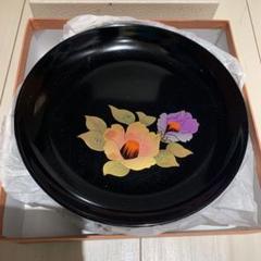 "Thumbnail of ""新古品 漆器 蒔絵 椿 菓子皿 5枚セット"""