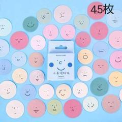 "Thumbnail of ""海外ステッカー 小表情 45枚 シール"""