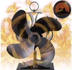 "Thumbnail of ""ストーブファン エコストーブファン 温度計付き 火力熱炉ファン 静音 空気循環"""