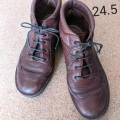 "Thumbnail of ""ブラウン革靴 通販生活ヤコフォームかな?24.5"""