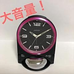 "Thumbnail of ""目覚まし時計 大音量 RAIDEN NR436K セイコー ブラック ピンク"""