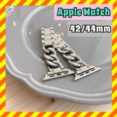 "Thumbnail of ""限定 値下げ Apple Watch 42/44mm チェーン ベルト シルバー"""