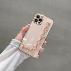 "Thumbnail of ""iPhone11 ケース chain 付き    pink 水晶"""