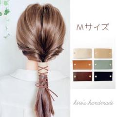 """Thumbnail of """"本革&紐 ヘアアクセサリー"""""""