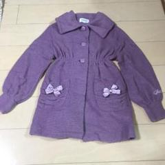 """Thumbnail of """"ジルスチュアート 紫ニットコート 140cm"""""""