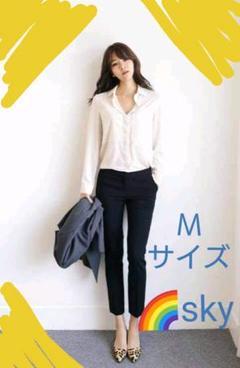 """Thumbnail of """"新品 テーパード パンツ レディース お仕事パンツ シンプル ブラック Mサイズ"""""""