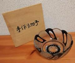 "Thumbnail of ""手作り切子 ガラス 鉢 共箱 食器"""