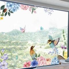 "Thumbnail of ""鳥二匹 植物インテリア ハーピーハウス ウォールステッカー 壁紙 壁ステッカー"""