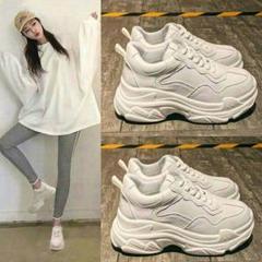 """Thumbnail of """"学生の韓版の百をかけるスニーカー通気性の軽いカジュアル靴白の靴d)"""""""