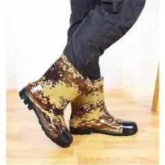 """Thumbnail of """"靴 雨 雨靴 長靴 メンズ レインブーツ 迷彩 安全靴 作業靴 耐久 防滑 雨靴"""""""