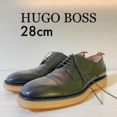 "Thumbnail of ""ヒューゴボス 高級本革ビジネスシューズ 28cm 革靴 紺色 Hugo Boss"""