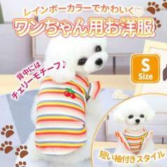 """Thumbnail of """"フリフリ 袖  S チェリー ペット服  犬 レインボー ドッグウェア 可愛い"""""""