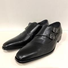 "Thumbnail of ""ESPOIR エスポアール ダブルモンクストレートチップ 革靴 7 約25.5"""