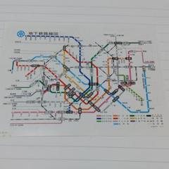 1979年当時の地下鉄路線図
