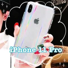 "Thumbnail of ""【iPhone11pro】iPhoneケース 透明 オーロラ クリア シンプル"""