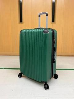 "Thumbnail of ""中型軽量スーツケース 8輪静音キャリーバッグTSAロック付き Mサイズ グリーン"""