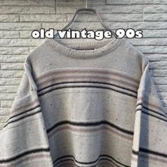"Thumbnail of ""old vintage / ボーダーニット セーター 柄 90s ストーン"""