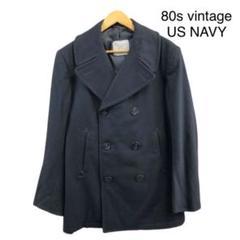 "Thumbnail of ""80s vintage US NAVY アンカーボタン ウール Pコート 古着"""