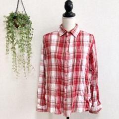 "Thumbnail of ""【BEELSEWHERE】チェックシャツ L レッド ネルシャツ a1437"""