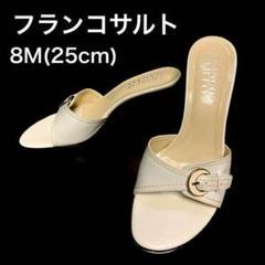"Thumbnail of ""★美品★フランコサルト ミュール サンダル ホワイト 8M 25㎝"""