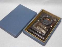 "Thumbnail of ""レトロ 彫金 銅製 タバコ入れ 灰皿セット 花柄と駕籠 箱付"""