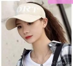 "Thumbnail of ""新品未使用 メッシュサンバイザー 女性用 レディース帽子紫外線対策  薄ベージュ"""