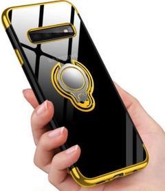 "Thumbnail of ""Galaxy S10 Plus ケース リング クリア TPU ゴールド 透明"""
