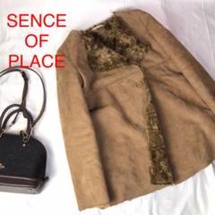 "Thumbnail of ""SENCE OF PLACE フェイクムートンコート フリーサイズ 巻毛 茶系"""
