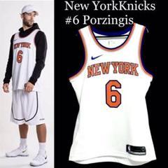 """Thumbnail of """"NIKE NBA NEW YORK KNICKS ポルジンギス ユニフォーム"""""""