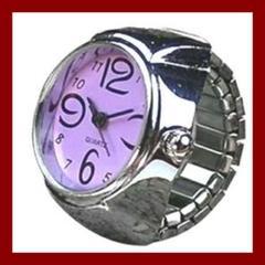 リングウォッチ 指輪時計 指時計 アナログ フィンガーウォッチ 男女兼用
