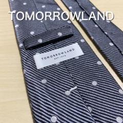 "Thumbnail of ""TOMORROWLAND  グレー ドット ネクタイ"""