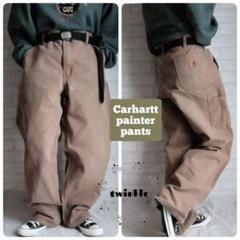 """Thumbnail of """"【大人気】Carhartt 革ロゴ ワイドシルエット ダック地 ペインターパンツ"""""""