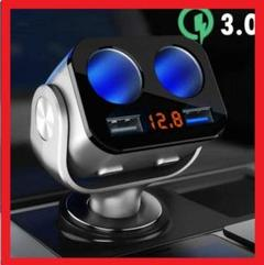 "Thumbnail of ""最新シガーソケット 電源ソケット USB QC3.0 急速充電 12V 24V"""