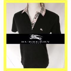 "Thumbnail of ""BURBERRYバーバリー ポロシャツ黒 S"""