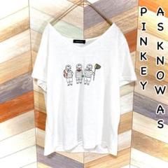 """Thumbnail of """"アズノゥアズピンキー tシャツ 半袖 白 ホワイト 刺繍 夏服 M"""""""