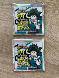 "Thumbnail of ""ヒロアカ 東急ハンズ キラキラ光る ホログラム 缶バッジ 未開封"""