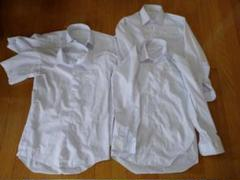 "Thumbnail of ""男児155長袖シャツ半袖シャツカッターシャツスクールシャツ4点白ホワイト"""