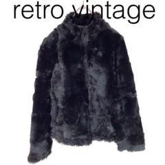 """Thumbnail of """"W2122*vintage ラビットファーコート 黒ブラック M"""""""