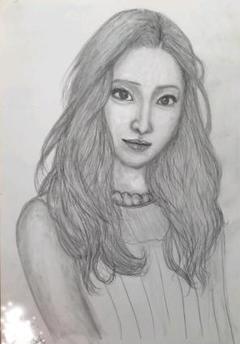 "Thumbnail of ""Hの鉛筆画art  「女優」「タレント」"""