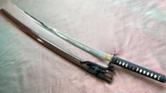 """Thumbnail of """"居合刀 二重乱れ刃紋 しとどめ付き 鮫皮 模造刀 模擬刀"""""""