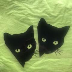 """Thumbnail of """"2枚★黒猫のカーステッカー 防水ステッカー 車ステッカー カッティングステッカー"""""""