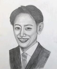 """Thumbnail of """"Hの鉛筆画art  日本の「俳優」ドラマ出演の役どころの姿"""""""