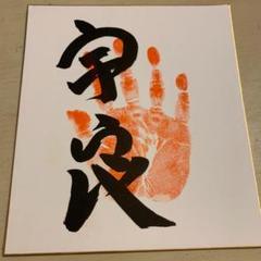 "Thumbnail of ""大相撲 再入幕 宇良関 直筆肉筆手形サイン"""