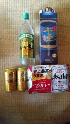 """Thumbnail of """"アサヒ スーパードライ 6本 ヱビス 2本 木挽ブルー 1.8L いいちこ 焼酎"""""""