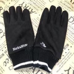 """Thumbnail of """"Black&Whiteブラックアンドホワイト グローブ 手袋 ブラック K537"""""""