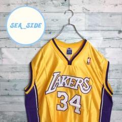 "Thumbnail of ""《NBA》レイカーズ ゲームシャツ チャンピオン ロゴ刺繍 オニール 2XL"""